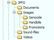 Perhaps a way to store and find your JPFO files